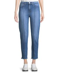 Hudson Blue Zoeey High-rise Pintuck Straight-leg Jeans