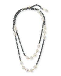 Grazia And Marica Vozza - Multicolor Chain Necklace With Pearls - Lyst
