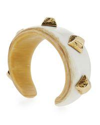 Ashley Pittman Multicolor Tamasha Horn Cuff Bracelet