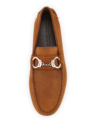 Jimmy Choo - Brown Brogan Suede Driver With Handcuff Detail for Men - Lyst