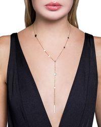 Lana Jewelry Metallic 14k Gold Cleo Disc Y-drop Lariat Necklace