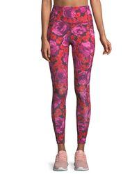 Kate Spade - Multicolor Electric Rose-print Studio Leggings - Lyst