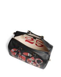 Gucci - Black Men's King Snake-print Duffel Bag for Men - Lyst