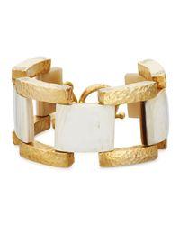 Ashley Pittman Metallic Muziki Chunky Link Bracelet