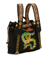 Etro - Black Zain Stampa Harlem Backpack - Lyst