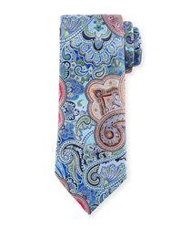 Ermenegildo Zegna - Blue Quindici Paisley Tie for Men - Lyst