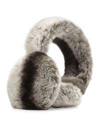 Surell Black Rabbit Fur Earmuffs