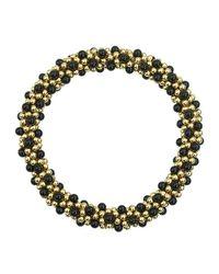 Meredith Frederick 14k Gold And Black Onyx Bead Bracelet