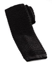 Charvet Black Knit Tie for men