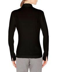 Akris Punto Black Long-sleeve Eyelet-collar Button-down Cotton Shirt
