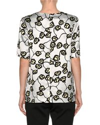 Marni - Gray Printed Short-sleeve Top - Lyst