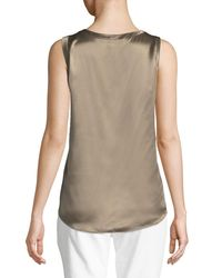 Lafayette 148 New York - Multicolor Perla Luxe Reversible Silk Charmeuse Shell - Lyst