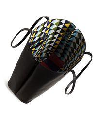 Akris - Black Ai Medium Soft Printed Reversible Shoulder Bag - Lyst