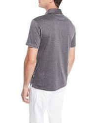Ermenegildo Zegna - Gray Men's Herringbone Polo Shirt for Men - Lyst