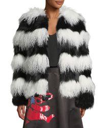 Alice + Olivia - Black Verity Fur Coat - Lyst