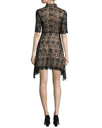 Catherine Deane - Black Jeanne High-neck Lace Cocktail Dress - Lyst