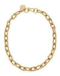 "Ashley Pittman Metallic 18"" Hammered Bronze Chain Necklace"