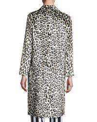 Nina Ricci - Black Leopard-print Three-button Coat - Lyst
