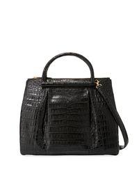 Nancy Gonzalez - Black Large Crocodile Plisse Tote Bag - Lyst