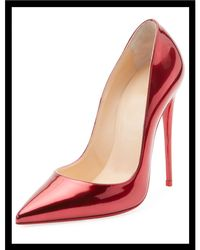 Christian Louboutin - So Kate Patent Red Sole Pumps - Lyst