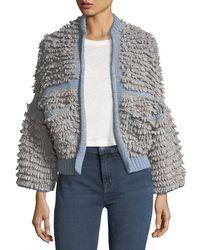 MiH Jeans - Blue Alice Oversized Cardigan Sweater - Lyst