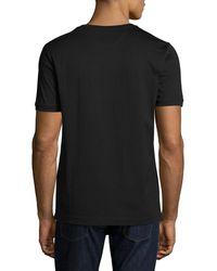 Fendi - Black Karlito Studded Short-sleeve Tee for Men - Lyst