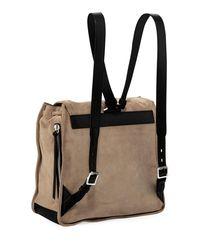 Rag & Bone - Gray Field Suede Backpack - Lyst