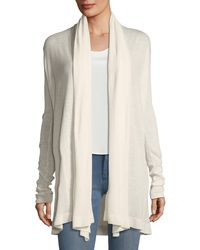 Theory - White Open-front Featherweight Cashmere Cardigan - Lyst