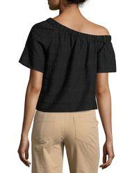 A.L.C. - Black Ryland One-shoulder Top - Lyst