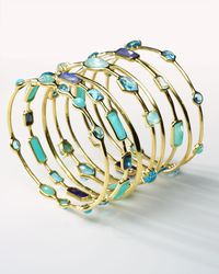 Ippolita - Multicolor 18k Gold Rock Candy® 9-station Bangle In Waterfall - Lyst