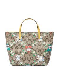 Gucci - Natural Girls' Gg Supreme Pets Tote Bag - Lyst