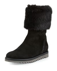 Aquatalia - Black Paulette Faux-fur Lined Boot for Men - Lyst