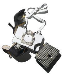 Attico - Black Elena Crystal-embellished Mule Sandal - Lyst