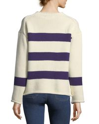 MiH Jeans - Blue Yardley Striped Wool-cashmere Sweater - Lyst