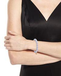 Sydney Evan - Anniversary Blue Lace Agate Beaded Bracelet With Diamond Smiley Charm - Lyst