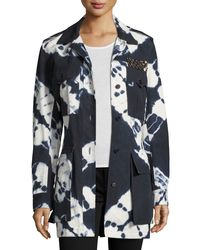 Figue - Blue Tie-dye Safari Jacket - Lyst