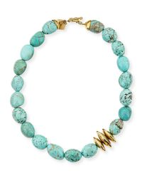 Ashley Pittman Blue Yai Turquoise Necklace
