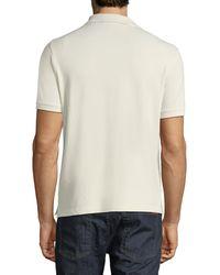 Stone Island Gray Pique-knit Polo Shirt for men