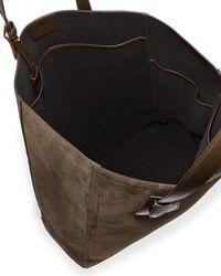 Tom Ford - Natural Olive Suede Tote Bag for Men - Lyst