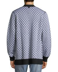 9f88d8f9c2c0e2 Lyst - Ovadia And Sons Men's Checkerboard Pocket Cardigan in Blue ...