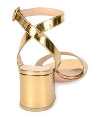 Gianvito Rossi - Metallic Ankle-strap City Sandal - Lyst
