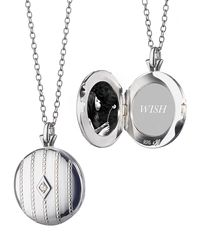Monica Rich Kosann - Metallic Beaded Center Diamond Locket - Lyst