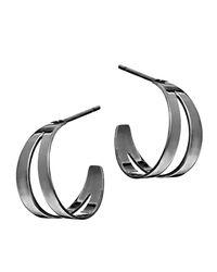 Lana Jewelry - Metallic Double Flat Huggie Hoop Earrings - Lyst