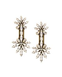 Auden - Metallic Devon Crystal Chain Drop Earrings - Lyst