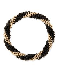 Meredith Frederick | Audrey 14k Gold And Black Onyx Bead Bracelet | Lyst