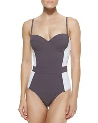 Tory Burch | White Lipsi Colorblock One-piece Swimsuit | Lyst