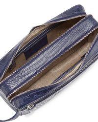 Santiago Gonzalez - Blue Crocodile Double-zip Travel Bag - Lyst