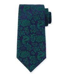 Charvet | Green Paisley-print Silk Tie for Men | Lyst