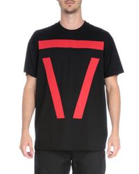 Givenchy | Black Bar-graphic Short-sleeve T-shirt for Men | Lyst