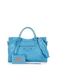 Balenciaga - Blue Classic City Lambskin Tote Bag - Lyst